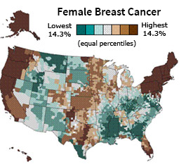 Spatial Data Analysis Geographic Information Systems Science - Us cancer rate map